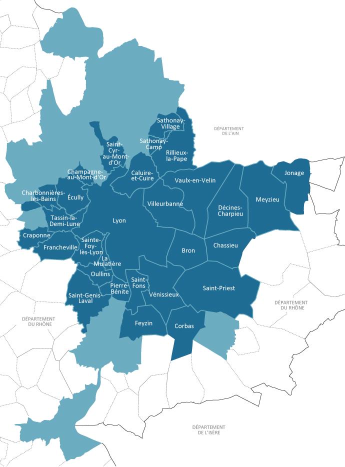 carte lyon metropole   Maintenir
